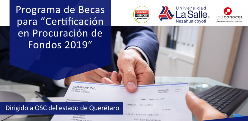 "Programa de Becas para ""Certificación en Procuración de Fondos 2019"""