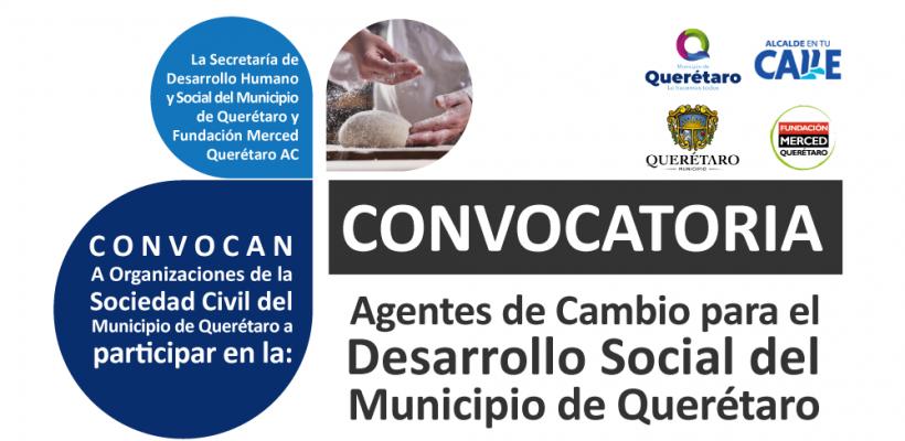 Convocatoria Agentes de Cambio para el Desarrollo Social del Municipio de Querétaro