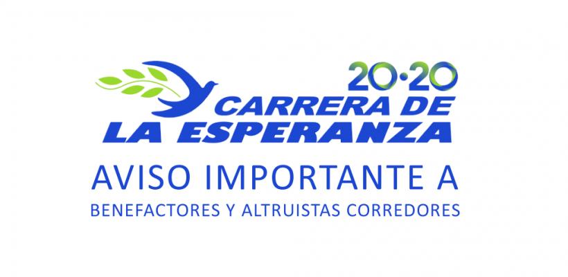 Comunicado Carrera de la Esperanza 2020