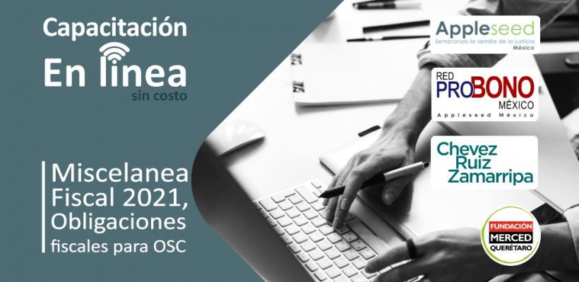 Capacitación en línea: Miscelanea fiscal 2021, obligaciones fiscales para OSC