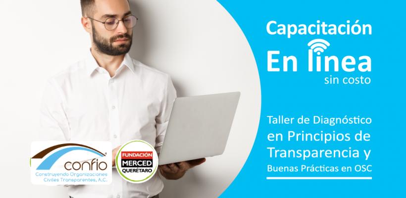 Capacitación en línea: Diagnóstico en Principios de Transparencia y Buenas Prácticas en OSC